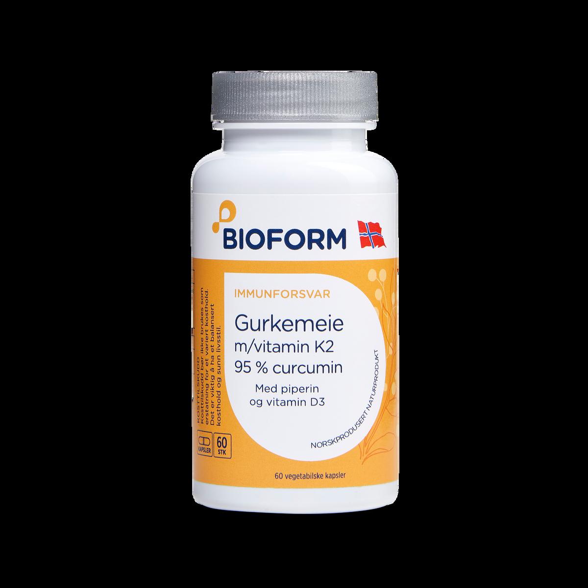 3for2 Gurkemeie m/vitamin K2 og D3